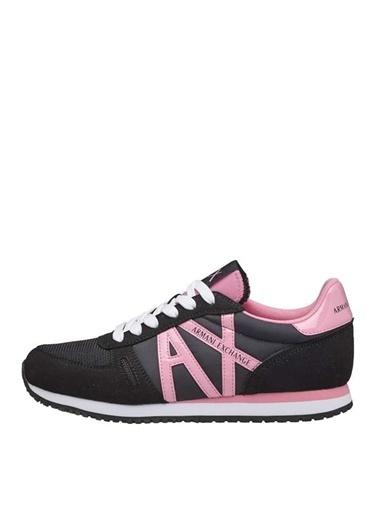 Armani Exchange Armani Exchange Kadın Siyah-Pembe Sneaker Siyah